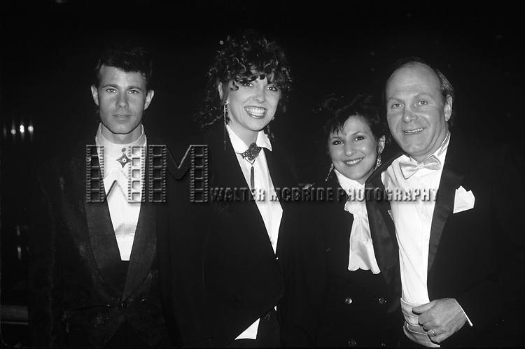 The Manhattan Transfer: Alan Paul, Cheryl Bentyne, Janis Siegel & Tim Hauser in New York City in 1988.