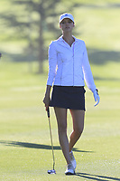 Kelly Rohrbach on the 1st hole during Thursday's Round 1 of the 2018 AT&amp;T Pebble Beach Pro-Am, held over 3 courses Pebble Beach, Spyglass Hill and Monterey, California, USA. 8th February 2018.<br /> Picture: Eoin Clarke | Golffile<br /> <br /> <br /> All photos usage must carry mandatory copyright credit (&copy; Golffile | Eoin Clarke)