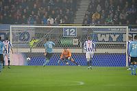 VOETBAL: HEERENVEEN: Abe Lenstra Stadion, SC Heerenveen - Ajax, 11-01-2012, Eindstand 0-5, Theo Janssen (#16) scoort de 0-1 via een strafschop, SC Heerenveen keeper Bo Kristoffer Nordfeldt (#26), ©foto Martin de Jong