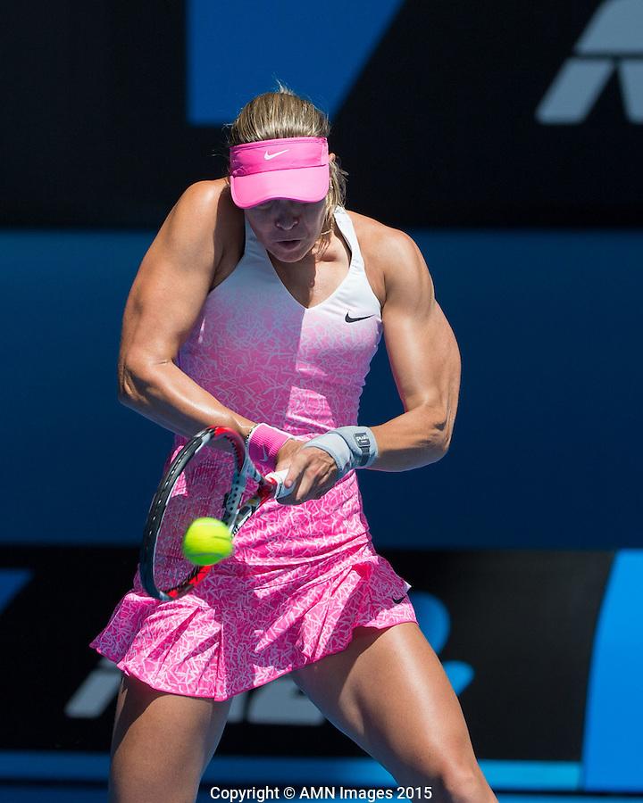 Lucie Hradecka (CZE)<br /> <br /> Tennis - Australian Open 2015 - Grand Slam -  Melbourne Park - Melbourne - Victoria - Australia  - 23 January 2015. <br /> &copy; AMN IMAGES