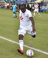 MONTERIA - COLOMBIA, 15-09-2018: Eliser Quiñonez durante partido entre Jaguares de Córdoba y Millonarios por la fecha 10 de la Liga Águila II 2018 jugado en el estadio Municipal de Montería. / Eliser Quiñonez during the match between Jaguares of Cordoba and Millonarios for the date 10 of the Liga Aguila II 2018 at the Municipal de Monteria Stadium in Monteria city. Photo: VizzorImage / Andres Felipe Lopez / Cont