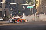 #19 Martin Truex Jr  during NASCAR's Burnout Blvd. Driven By Goodyear