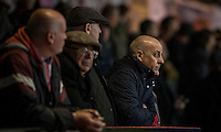 Newport fans during the abandoned Sky Bet League 2 match between Newport County and Morecambe at Rodney Parade, Newport, Wales on 10 December 2016. Photo by Mark  Hawkins.
