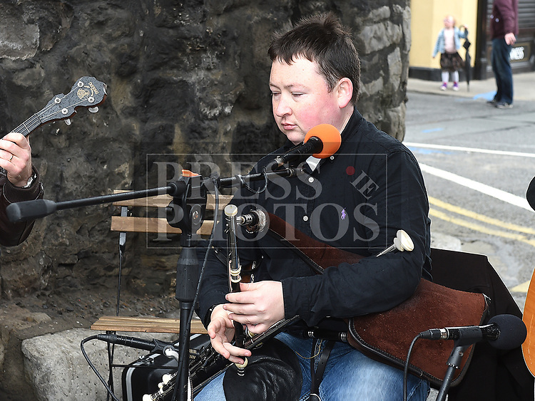 Organiser Darragh ÓHéiligh performing at the Music at the Gate. Photo:Colin Bell/pressphotos.ie