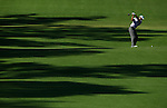 AUGUSTA, GA - APRIL 10:  Tiger Woods hits off the fairway during the 2010 Masters Tournament held in Augusta, Georgia at Augusta National Golf Club on April 10, 2010. (Photo by Donald Miralle)..