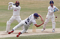 Nick Browne of Essex attempts to catch out Ryan Patel during Essex CCC vs Surrey CCC, Bob Willis Trophy Cricket at The Cloudfm County Ground on 11th August 2020