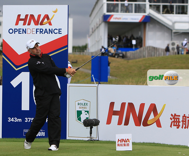 Hennie Otto (RSA) on the 10th tee during Round 2 of the HNA Open De France  at The Golf National on Friday 30th June 2017.<br /> Photo: Golffile / Thos Caffrey.<br /> <br /> All photo usage must carry mandatory copyright credit      (&copy; Golffile | Thos Caffrey)