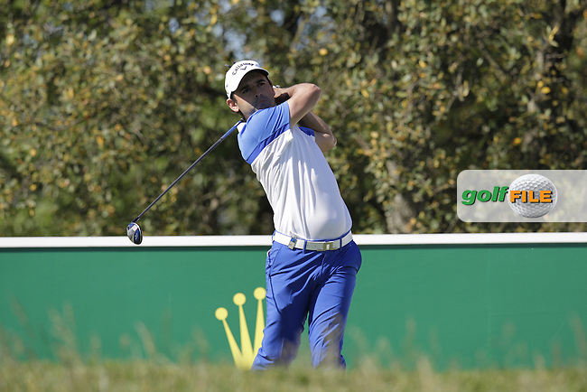 Fabrizio Zanotti (PAR) tees off the 10th tee during Thursday's Round 1 of the 2014 Open de Espana held at the PGA Catalunya Resort, Girona, Spain. Wednesday 15th May 2014.<br /> Picture: Eoin Clarke www.golffile.ie