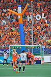 The Hague, Netherlands, June 09: Sena Cha #7 of Korea looks on as players of The Netherlands prepare for a penalty corner during the field hockey group match (Women - Group A) between The Netherlands and Korea on June 9, 2014 during the World Cup 2014 at Kyocera Stadium in The Hague, Netherlands. Final score 3-0 (1-0)  (Photo by Dirk Markgraf / www.265-images.com) *** Local caption ***