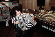 Nashville, Tennessee - June 10, 1977. This photograph was taken of Yvette Horner while she is playing in the recording studio in Nashville, Tennessee, where she was set to play at the Ole Opry. Yvette Horner (born September 22nd, 1922) is a renown French accordionist, whose career has spanned over 70 years, has given thousands of concerts around the world and sold over 30 million records.