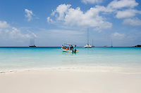 Seychelles, Island Praslin, Anse Lazio: water taxi to Praslin's most beautiful beach