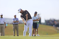 Jimmy Walker (USA) plays his 2nd shot on the 7th hole during Wednesday's Practice Day of the 117th U.S. Open Championship 2017 held at Erin Hills, Erin, Wisconsin, USA. 14th June 2017.<br /> Picture: Eoin Clarke | Golffile<br /> <br /> <br /> All photos usage must carry mandatory copyright credit (&copy; Golffile | Eoin Clarke)