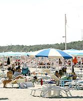 La spiaggia di Marina di Ravenna.<br /> The beach of Marina di Ravenna.