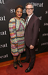 "Lynn Nottage and Tony Gerber attend the after party for the Broadway Opening Night of ""Sweat"" at Brasserie 8 1/2 on March 26, 2017 in New York City."