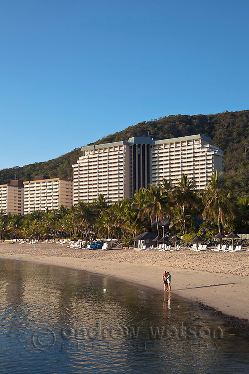 Hamilton Island resort at Catseye Beach.  Hamilton Island, Whitsundays, Queensland, Australia