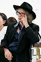 Japanese artist Megumi Igarash's fiance Mike Scott of The Waterboys appears during a press conference on April 13, 2017, Tokyo, Japan. Igarashi also known as Rokudenashiko was declared partly innocent by the Tokyo District Court, today April 13, after first being arrested in 2014 for distributing 3D data of her genitals as part of a crowd funding project to make a kayak based on her vulva. She had been found guilty in 2016 of breaking obscenity laws and fined JPY 400,000 but appealed that ruling. She was found guilty of distributing obscene data via the internet but innocent for displaying her art. Her fiance Mike Scott of The Waterboys was also in Tokyo to attend the hearing. (Photo by Rodrigo Reyes Marin/AFLO)
