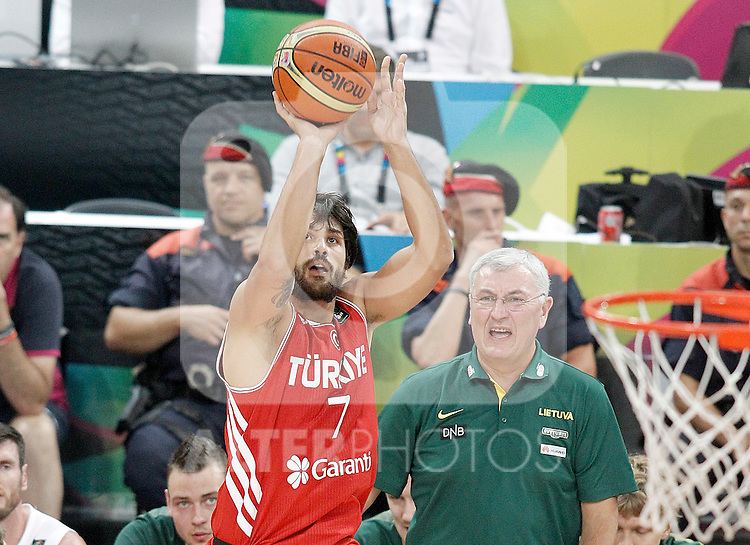 Turkey's Cenk Akyol during 2014 FIBA Basketball World Cup Quarter-Finals match.September 9,2014.(ALTERPHOTOS/Acero)