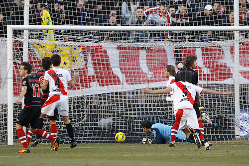 28.01.2010 Vallecano, Spain. The Spanish La Liga  match played between Rayo Vallecano vs Athletic de Bilbao at Campo de Vallecas stadium. The picture show Alejandro Arribas (Spanish player of Rayo Vallecano)
