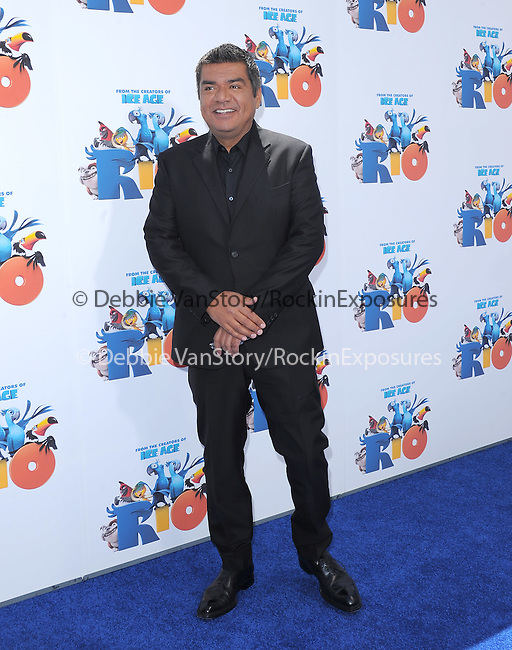 George Lopez at The Twentieth Century Fox and Blue Sky Studios L.A. Premiere of RIO held at The Grauman's Chinese Theatre in Los Angeles, California on April 10,2011                                                                               © 2010 Hollywood Press Agency