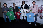 "23.05.2012. Agustin Diaz Yanes, Javier Limon and Jose Manuel Lorenzo presented the collection of shirts ""Aguardiente Clothing""  in the space Arte y Cultura  of Las Ventas. In the picture: Agustin Diaz Yanes, Javier Limon and Jose Manuel Lorenzo  (Alterphotos/Marta Gonzalez)"