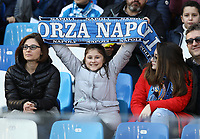 9th February 2020; Stadio San Paolo, Naples, Campania, Italy; Serie A Football, Napoli versus Lecce; supporters of Napoli shows their colours