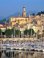 France, Côte d'Azur, Menton: Harbour View | Frankreich, Côte d'Azur, Menton: Yachthafen