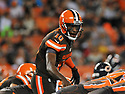 CLEVELAND, OH - SEPTEMBER 1, 2016: Quarterback Robert Griffin III #10 of the Cleveland Browns makes a call at the line of scrimmage in the first quarter of a game on September 1, 2016 against the Chicago Bears at FirstEnergy Stadium in Cleveland, Ohio. Chicago won 21-7. (Photo by: 2016 Nick Cammett/Diamond Images)  *** Local Caption *** Robert Griffin III