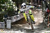10th September 2017, Smithfield Forest, Cairns, Australia; UCI Mountain Bike World Championships; Danielle Beecroft (AUS) on her way to fifth place in the elite womens downhill race;