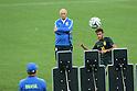 (L to R) <br /> Luiz Felipe Scolari, <br /> Neymar (BRA), <br /> JUNE 11, 2014 - Football /Soccer : <br /> 2014 FIFA World Cup Brazil <br /> Official Training of Brazil <br /> at Arena de Sao Paulo, Sao Paulo, Brazil. <br /> (Photo by YUTAKA/AFLO SPORT)