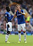 Everton's Morgan Schneiderlin talks to Idrissa Gana Gueye during the premier league match at Goodison Park, Liverpool. Picture date 12th August 2017. Picture credit should read: David Klein/Sportimage