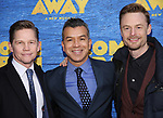 Jack Noseworthy, Sergio Trujillo and Christopher Wheeldon attends the Broadway Opening Night performance for 'Come From Away' at the Gerald Schoenfeld Theatre on March 12, 2017 in New York City.