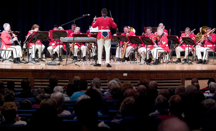 WATERBURY, CT- 15 APRIL 07- 041507JT04- <br /> The Second Company Governor's Foot Guard Band performs at Kennedy High School on Sunday for their spring concert, which was sponsored by the Republican-American. <br /> Josalee Thrift Republican-American