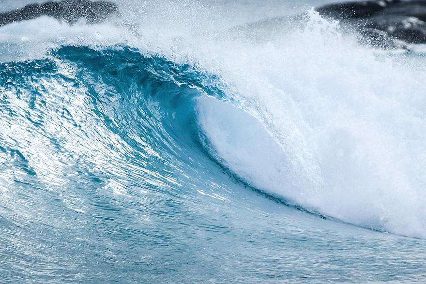 Wave breaking at Native Dog Bay. Western Australia.