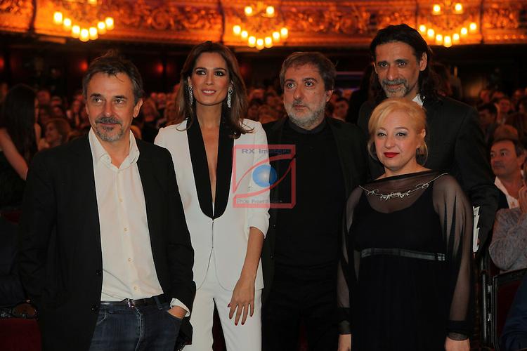 63 Premios Ondas.<br /> Gala de Entrega de los premios.<br /> Pere Ponce, Mar Saura, Javier Olivares, Nacho Fresneda &amp; Francesca Pi&ntilde;on.