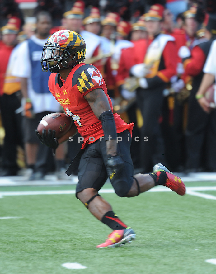 Maryland Terrapins William Likely (4) during a game against the South Florida Bulls on September 19, 2015 at Byrd Stadium in College Park, MD. Maryland beat South Florida 35-17.