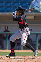 Lake Elsinore Storm Buddy Reed (23) at bat against the Rancho Cucamonga Quakes at LoanMart Field on April 22, 2018 in Rancho Cucamonga, California. The Storm defeated the Quakes 8-6.  (Donn Parris/Four Seam Images)