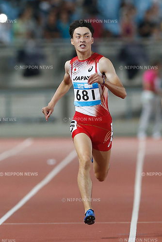 Jun Yamashita (JPN), <br /> AUGUST 24, 2014 - Athletics : <br /> Men's 200m Final A <br /> at Nanjing Olympic Sports Center <br /> during the 2014 Summer Youth Olympic Games in Nanjing, China. <br /> (Photo by AFLO SPORT)
