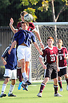 El Segundo, CA 02/04/10 - Garrett Granone (Torrance#13), Francisco Montano (Torrance#25) and unidentified El Segundo player in action during the El Segundo - Torrance league game, El Segundo defeated Torrance with a late minute goal in the second overtime period.