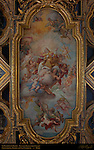 Gilded Coffered Ceiling Fresco St Clement in Glory Giuseppe Bartolomeo Chiari 1715 San Clemente Rome