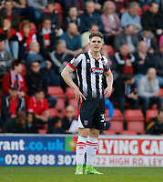 Grimsby Town's Sam Jones, goal scorer during the Sky Bet League 2 match between Leyton Orient and Grimsby Town at the Matchroom Stadium, London, England on 11 March 2017. Photo by Carlton Myrie / PRiME Media Images.