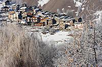 Europe/France/Rhone-Alpes/73/Savoie/Saint-Martin-de-Belleville: Habitat de montagne au hameau du Chatelard