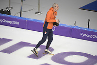 OLYMPIC GAMES: PYEONGCHANG: 21-02-2018, Gangneung Oval, Long Track, Team Pursuit, Team Netherlands, Arie Koops (assistent coach), ©photo Martin de Jong