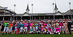 LOUISVILLE, KY - MAY 04: Participants in the Survivor's Parade pose for a photo on Kentucky Oaks Day at Churchill Downs on May 4, 2018 in Louisville, Kentucky. (Photo by Alex Evers/Eclipse Sportswire/Getty Images)
