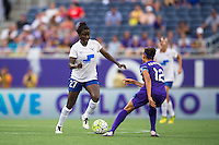 Orlando, FL - Sunday July 10, 2016: Eunice Beckmann, Kristen Edmonds during a regular season National Women's Soccer League (NWSL) match between the Orlando Pride and the Boston Breakers at Camping World Stadium.