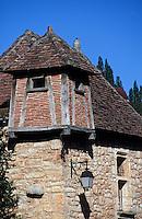 Europe/France/Midi-Pyrénées/46/Lot/Vallée du Lot/Saint-Cirq-Lapopie: Vieux toits