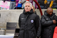 Bridgeview, IL, USA - Sunday, May 1, 2016: Orlando Pride head coach Tom Sermanni before a regular season National Women's Soccer League match between the Chicago Red Stars and the Orlando Pride at Toyota Park. Chicago won 1-0.