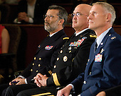 ?, Major General Karl Horst, Colonel David Almand - The 2012 Hobey Baker Award ceremony was held at MacDill Air Force Base on Friday, April 6, 2012, in Tampa, Florida.