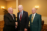 Watertown, CT- 30 March 2017-033017CM06-  From left, Knights of Columbus members, John Macari, Joe Thompson and George Hughes are photographed during The St. Vincent DePaul Mission of Waterbury annual banquet at The Grand Oak Villa in Oakville.  Christopher Massa Republican-American