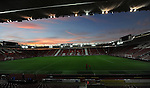 A general view of St Mary's Stadium home of Southampton FC during a winter sunset<br /> - Barclays Premier League - Southampton vs Manchester City - St Mary's Stadium - Southampton - England - 30th November 2014 - Pic Robin Parker/Sportimage