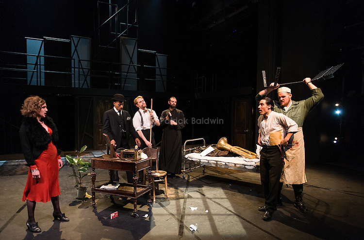 """The Royal Central School of Speech and Drama. """"The Suicide"""" by Nikolai Erdman. Directed by Ben Naylor and Anna Healey. Performed by MA Acting Classical students."""
